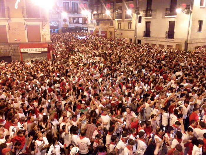 Pamplona closing ceremony in main square