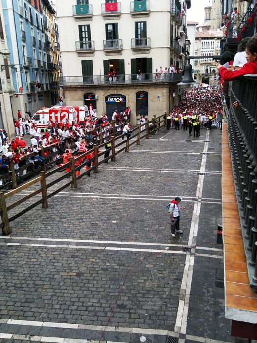 Pamplona streets before Encierro